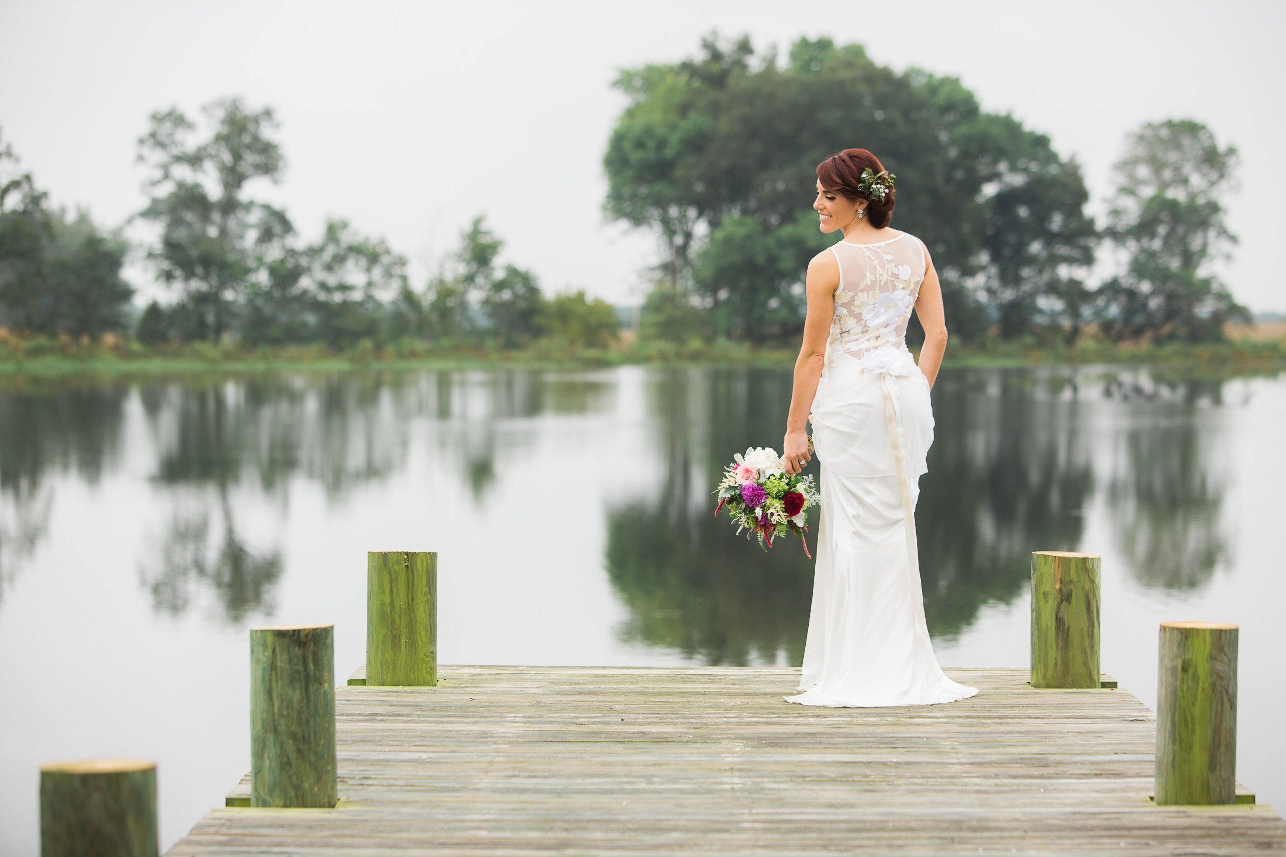 Bride Overlooking the Lake