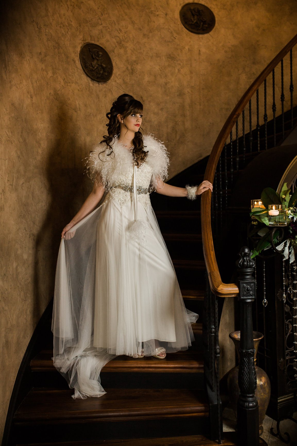 Bride in the Stairwell