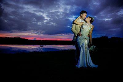 Married Couple Lake Night