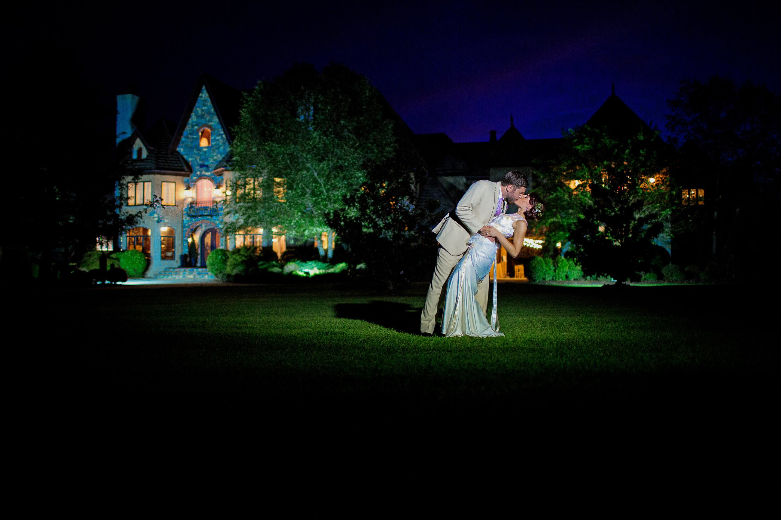 Married Couple Manor at Night