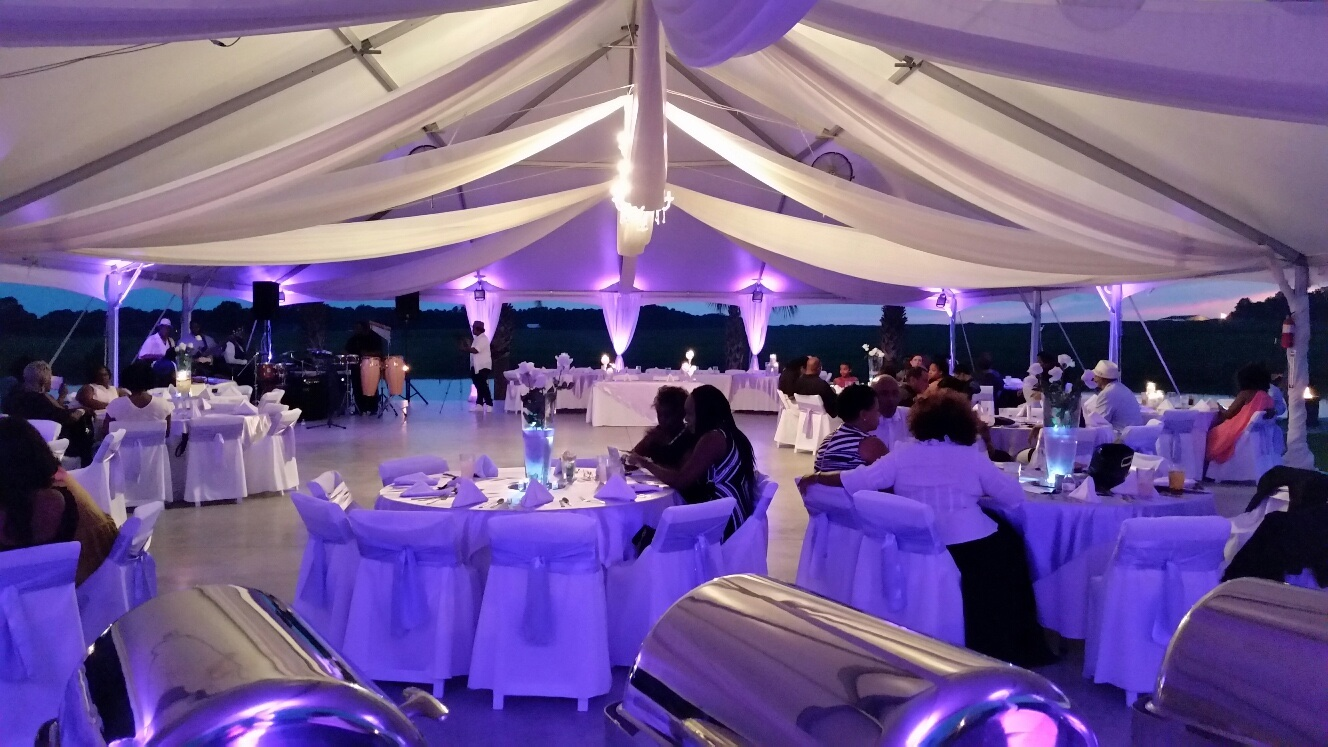 Tent at Night During a Wedding
