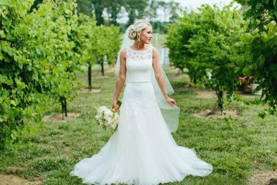 Bride in an Orchard